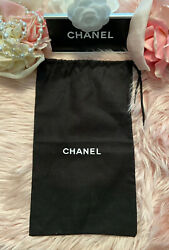 """Chanel Black Dust Bag Travel Case Protective Cover Clutch Storage 13""""x7.75"""" LCW $24.95"""