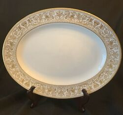 15 Oval Platter Wedgwood Florentine Gold Dragons W4219 Your Choice Of 2 Nr Mint