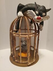 Vintage Sylvester The Cat Bamboo Cage Htf Rare 60's 70's Excellent Condition