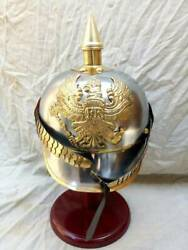 Vintage Finish Style Fire Man Fire Fighter Fire Chief Helmet Replica Gift