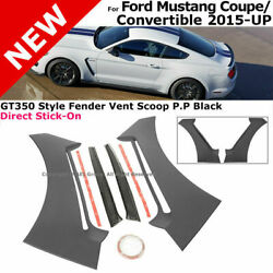 For 15-18 Ford Mustang Gt350 | Style Fender Vent Scoops Side Panel Trim Guards