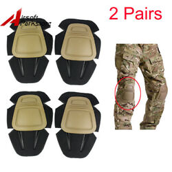2 Pairs EMERSON Tactical Military Combat Protective Knee Pads for G3 Pants Tan