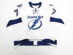 Hedman Tampa Bay Lightning Authentic Away Team Issued Reebok Edge 2.0 Jersey
