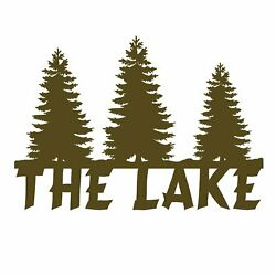 Ohio Wholesale The Lake Sign Artwork From Our Lodge Collection - New