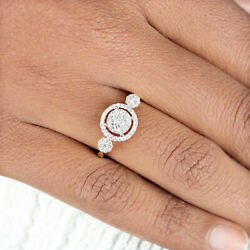Solid 14k Yellow Gold Pave Diamond Wedding Ring Handmade Jewelry New Collection