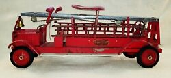 Antique Packard 30 Keystone Aerial Ladder 79 Ride-on Toy Fire Truck 1920-30and039s