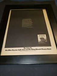 Blue Oyster Cult On Your Feet Or On Your Knees Rare Promo Poster Ad Framed