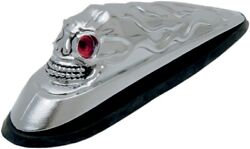 Skull Head Front Fender Ornament With Illuminated Eyes Ds-287533