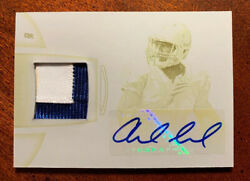 Andrew Luck 2012 Bowman Sterling Rpa Auto 1/1 Bsar-al Yellow Print Plate Jersey