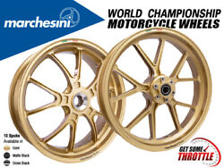 Marchesini Wheels Kawasaki Zx-10r 2016+ 10-spoke Rims Front And Rear Set