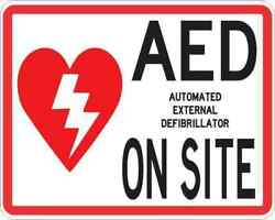 5x4 Aed On Site Magnet Magnetic Medical Emergency External Defibrillator Sign