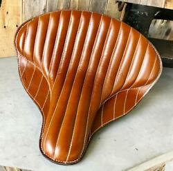 Spring Solo Tractor Seat Harley Touring Indian Chief 17x16 Desert Tan Leather