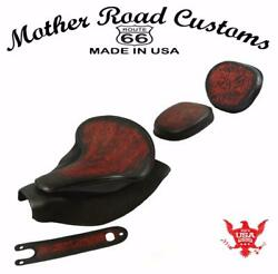 2014-21 Indian Chief Antred Tooled Spring Seat Mounting Kit Pad Back Rest Bib Bs
