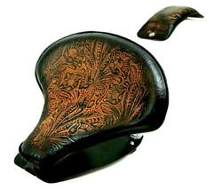 2015-2021 Indian Scout Spring Tractor Seat Ant Brn Tooled Mounting Kit Pad Cs