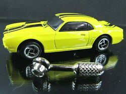 YELLOW BLACK 1968 68 CHEVY CAMARO ROAD CHAMPS SHOCK RACERS LOOSE 1 64 DIECAST