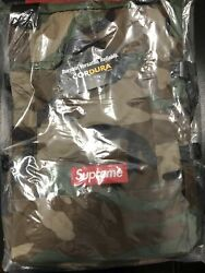 Supreme Woodland Camo Tote Backpack Ss19 In Hand