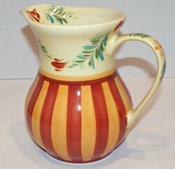 Gail Pittman Sienna 8 Pitcher Southern Living At Home - 48 Oz. Hand Painted