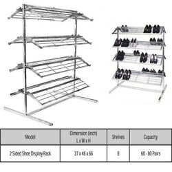 2 Sided Shoe Rack Shoe Storage 8 Shelves Holds 60-80 Pairs of Shoes $217.99