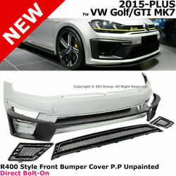 For 15-17 Vw Golf Gti Mk7 R400 Style   Front Fascia Bumper Cover Hatchback