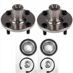 Front Wheel Hub And Bearing For 2012-2017 Toyota Prius C Pair W /snap Ring /nut