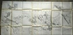 1853 Large Railroad Map Rio Grande To The Pacific Ocean Proposed Route By Usprr