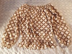 Michael Kors Off Shoulder Blouse Women's Size S Loose preowned