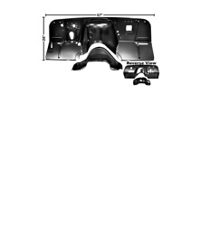 Chevrolet Chevy Pickup Firewall With Lower Hump Hole 2 Piece Design 1960-1962