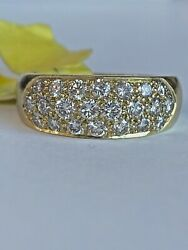 Vintage Inspired 14k Yellow Gold And Diamond Ladies / Womens Unique Band Ring