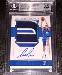 Luka Doncic Blue #33 RPA 2018-19 National Treasures 11 Rookie AUTO PATCH Mavs
