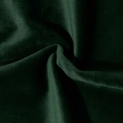 Solid Heavy Upholstery Soft Velvet Fabric Color Forest Green by The Yard $19.95