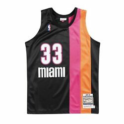 Mens Mitchell And Ness Nba Authentic Jersey Miami Heat 2005-06 Alonzo Mourning