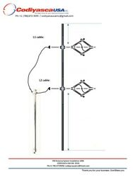 500w To 3kw- Two2antenna System Array,power Divider With Cables, Fm-tv Din7/16