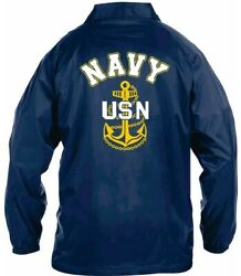 Uss Albany Ssn-753 Coaches Embroidered Andvinyl Lightweight 2-sided Jacket