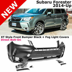 For 14-18 Subaru Forester | Xt Style Front Bumper Cover + Fog Light Covers
