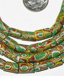 African Fine Old Venetian Antique Matched Millefiori Glass Trade Beads