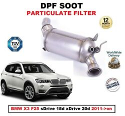Dpf Diesel Soot Particulate Filter For Bmw X3 F25 Sdrive 18d Xdrive 20d 2011-on