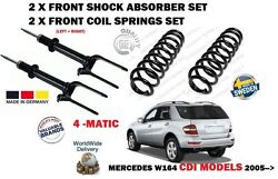 For Mercedes Ml320 Ml350 Cdi 2005- 2x Front Shock Absorber + 2 Coil Spring Set