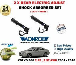 For Volvo S60 2.4 2.5 T Awd 2001-2010 2x Rear Electric Adjust Shock Absorber Set