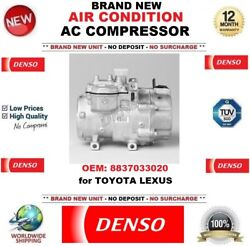 Denso Air Conditioning Ac Compressor Oem 8837033020 For Toyota Lexus Brand New
