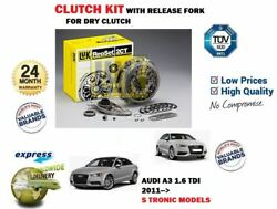 For Audi A3 1.6 Tdi S Tronic 2011 New Dry Clutch Kit Complete + Release Fork