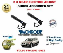 For Volvo V70 2007-2015 New 2x Rear Axle Electric Adjust Shock Absorber Set