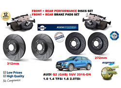 For Audi Q2 2016 New Front Rear Performance Drilled Brake Discs Set + Pads Kit