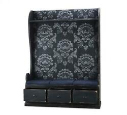 BLACK FLORAL Large Lincoln Hall Stand SOLID WOOD Bramble 26096 Special Order