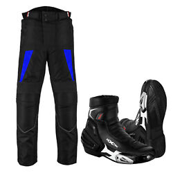 Motorcycle Trouser Textile Pants Armor Waterproof Motorbike Leather Boots Shoes