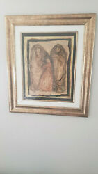 Rare Vintage Original Oil Painting By Marion Miller. Her First Veil.
