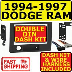 94-97 Dodge Ram Double Din Car Radio Stereo Installation Dash Kit Metra 95-6555b