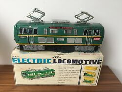 Bandai Bump And Go Locomotive Tin Toy Aound And Horn Made In Japan