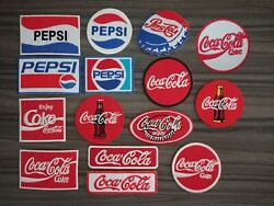 Patch Pepsi Coca Cola Coke Soda Embroidered Iron Or Sew On Coat Jacket Bag Hat