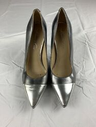 Kenneth Cole Genuine Designer Womens Dressy Heels Shoes Gray Silver Size 7.5 $25.95