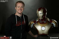 Iron Man Bust Mark 42 Sideshow Statue |maquette|warmachine|hot Toys|1|thanos